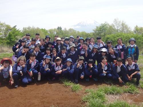 中2校外学習 足和田山登山